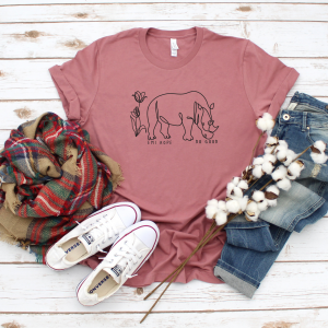 Floral Simple Emi Hope Save the Rhinos TShirt
